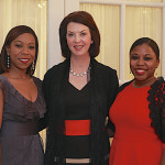 Scholarship winners left to right, Kim Scott, 1993, Diane Boyd Schultz, 1988, and Akila Bryant, 2008