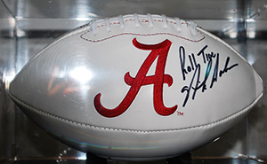Alabama Autographed Football, Nick Saban