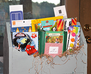 Children's Gift Box, includes craft items, $50 Smith's Variety Gift Card, puzzles, crayons, stickers, and more