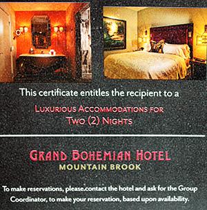 Grand Bohemian Hotel Gift Certificate